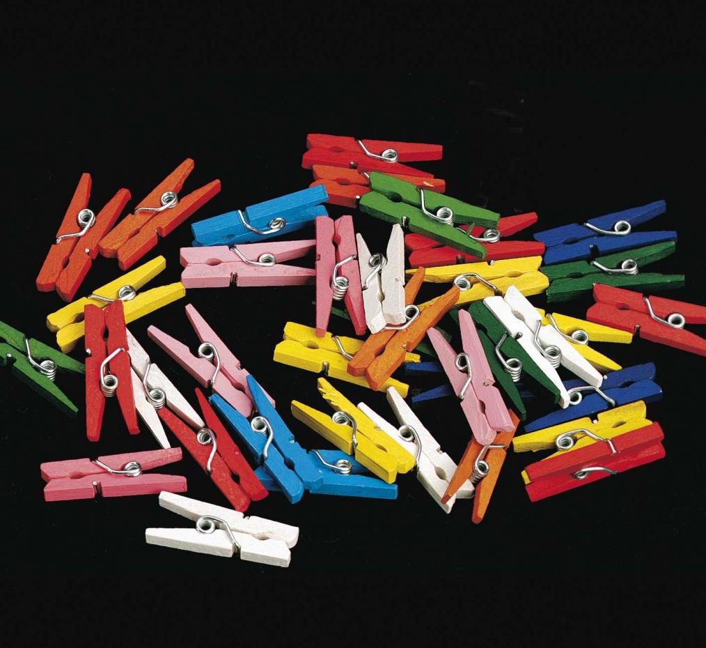 Mini wasknijpers assorti kleuren