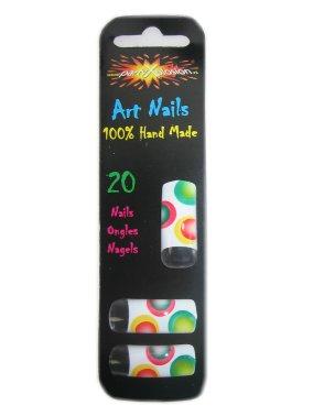 Tip nagels regenboog bollen