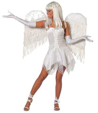 Witte jurk engel voor dame