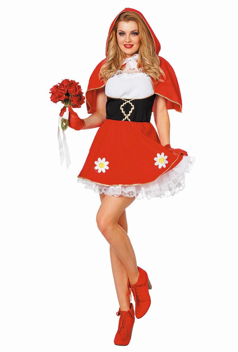 Roodkapje jurk voor dame
