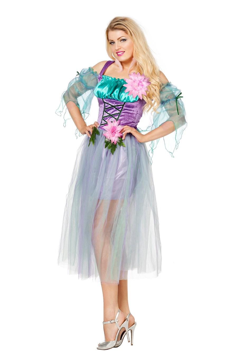 Bloemenfee paars voor dame