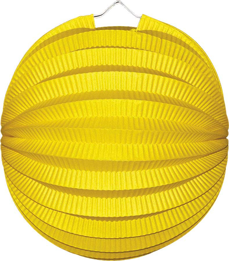 Lampion rond geel
