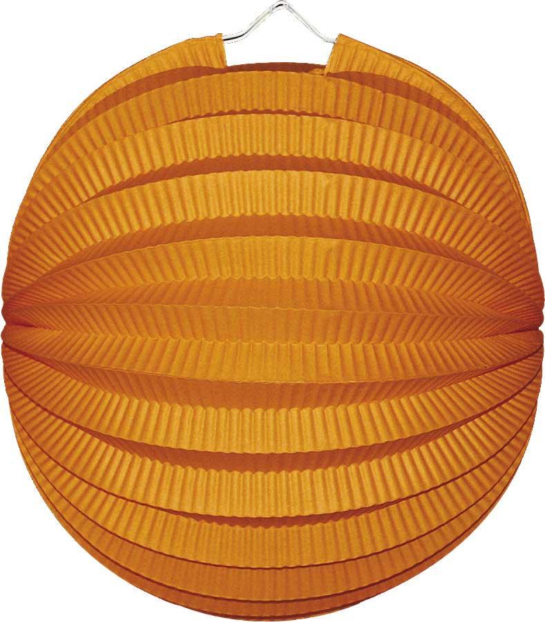 Lampion rond oranje.