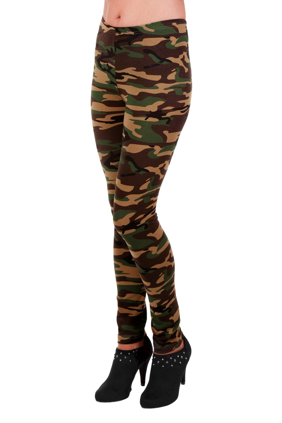 Legging bedrukt camouflageprint voor volwassenen