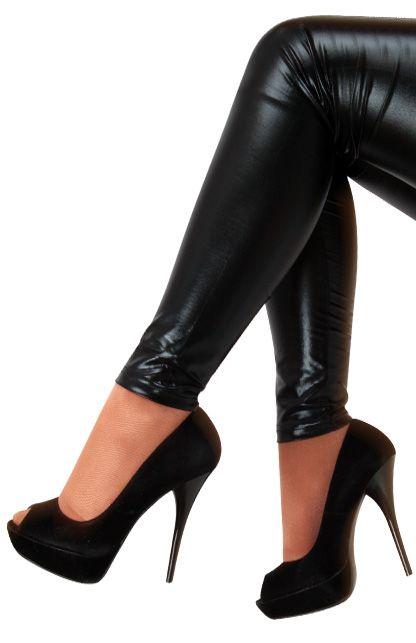Legging metallic zwart