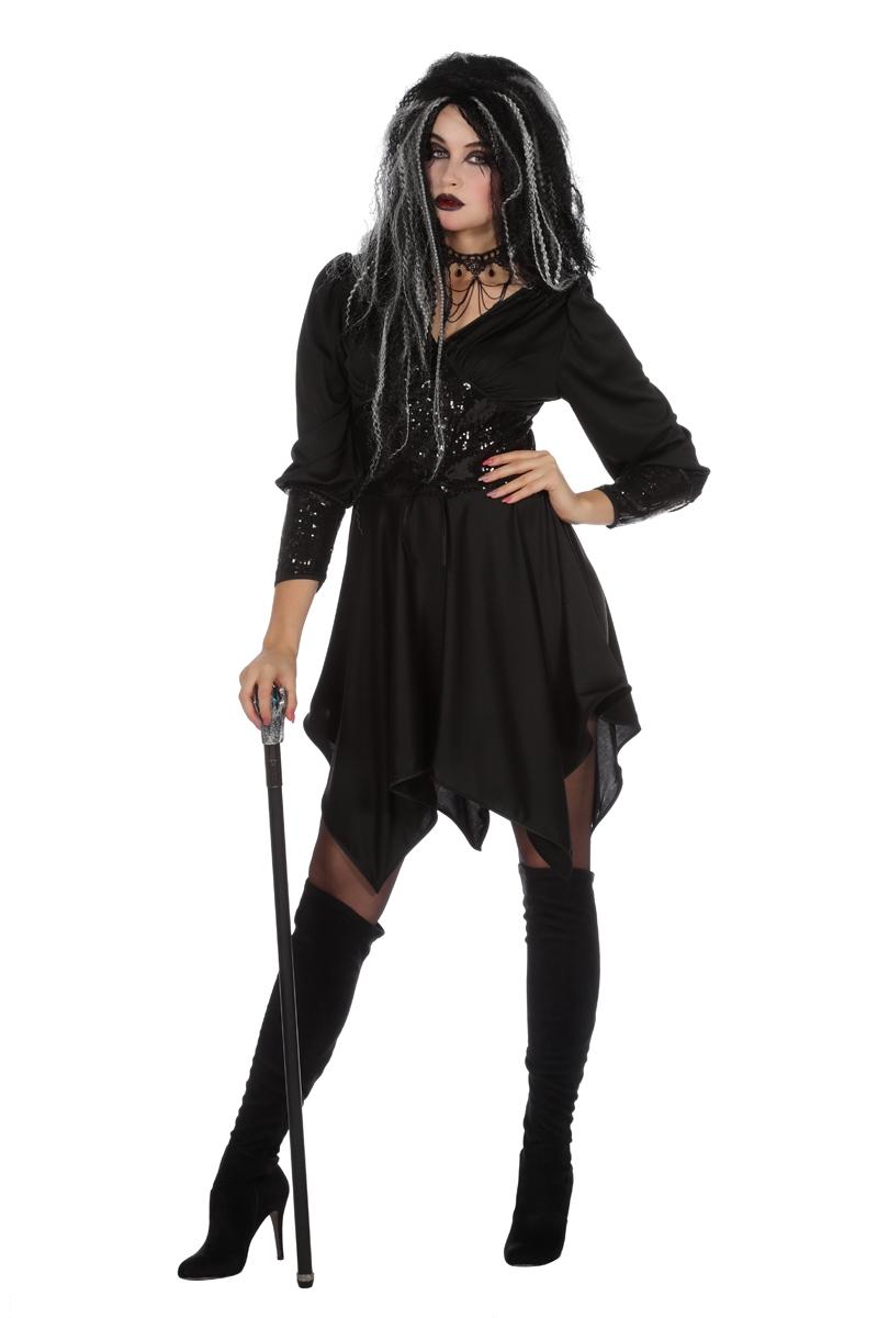 Angel jurk zwart voor volwassenen