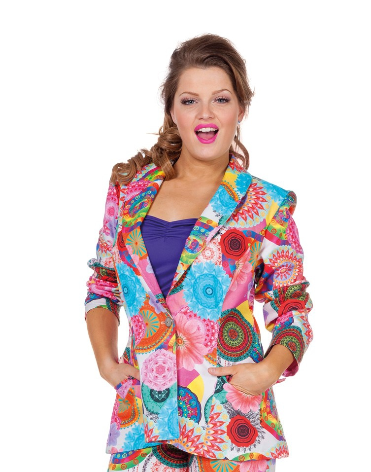 Colbert dames multi hippie flower