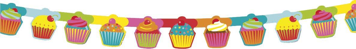 Cupcake guirlande Yummie.