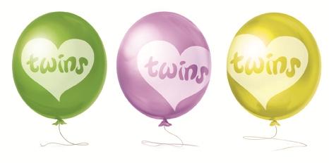Ballon tweeling 8 stuks.