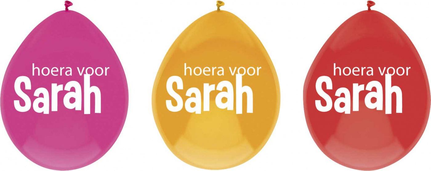 Ballonnen Sarah 6 stuks.