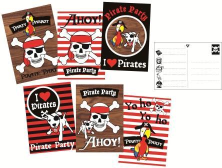 Uitnodigingskaarten Piraten