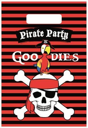 Partybags Piraten 6 stuks.