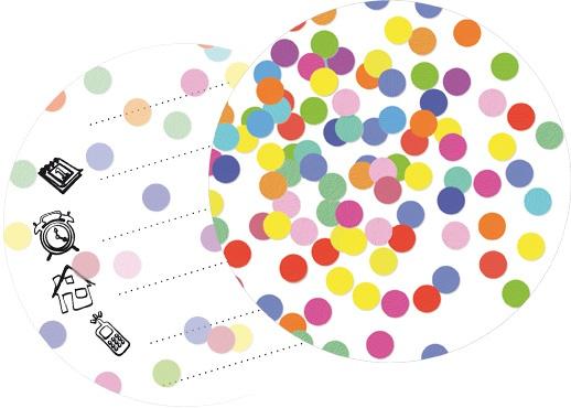 Uitnodigings kaarten 6 stuks confetti