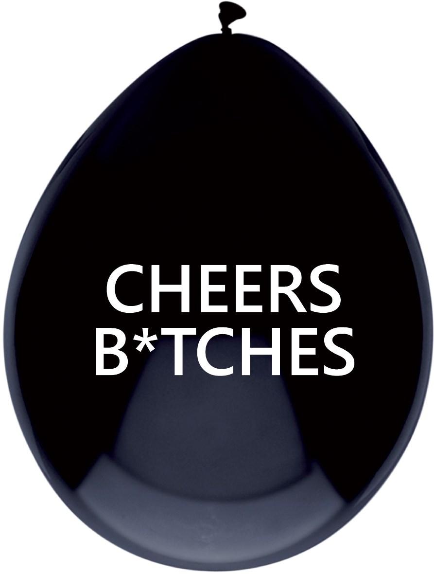 Ballonnen cheers bitches 5 stuks