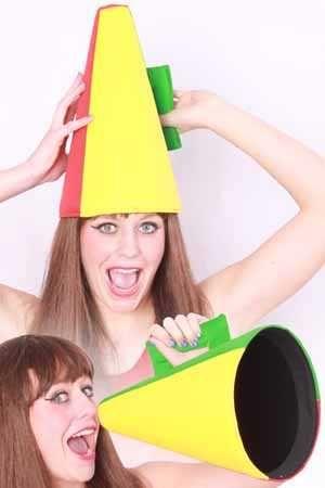 Supporters hoed/toeter rood geel groen