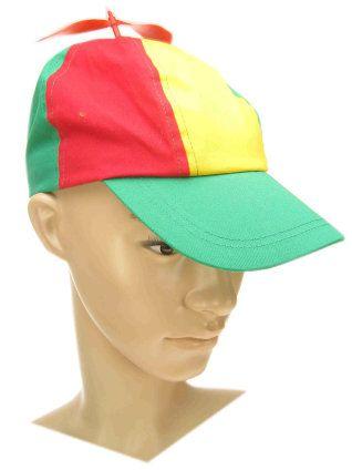 Baseball cap propeller rood/geel/groen