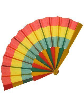 Waaier carnaval rood/geel/groen