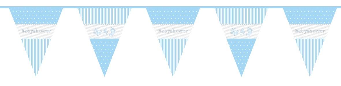 Vlaggenlijn babyshower jongen 10m