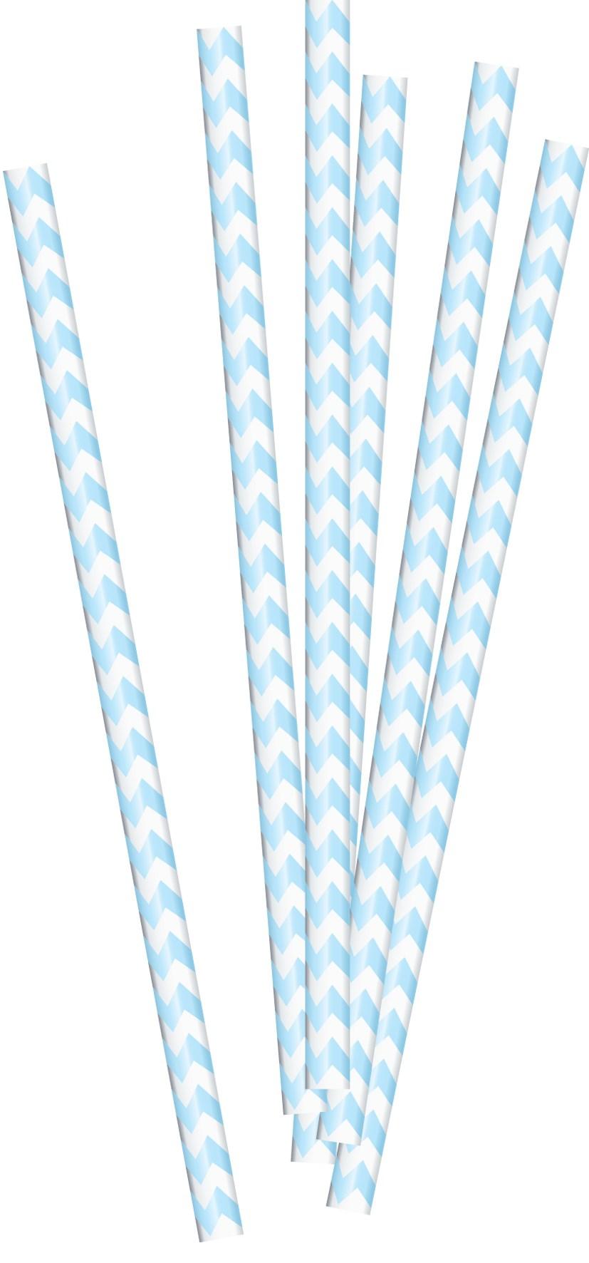 Babyshower rietjes babyblauw 20 stuks