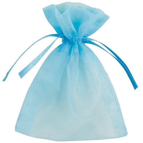 Organza uitdeelzakjes babyblauw 10 stuks