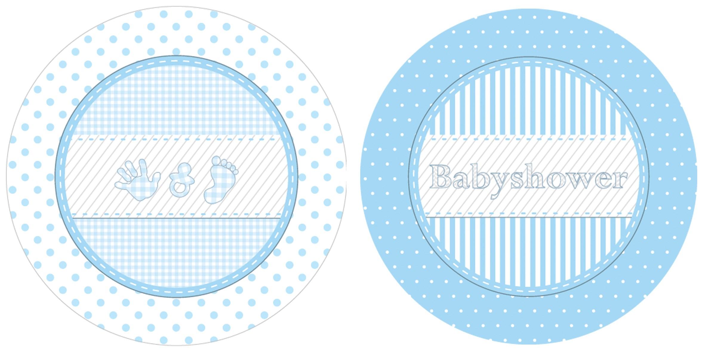 Borden babyshower jongen 8 stuks