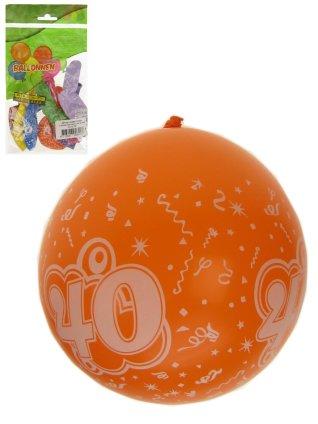 Ballonnen 8 stuks met cijfer 40 full printed