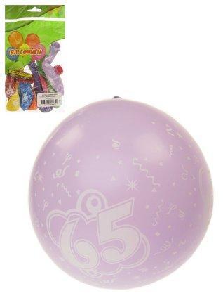 Ballonnen 8 stuks met cijfer 65 full printed