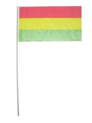 Vlaggetjes op stok rood/geel/groen
