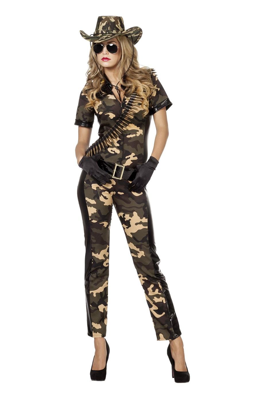 Soldate catsuit voor volwassenen