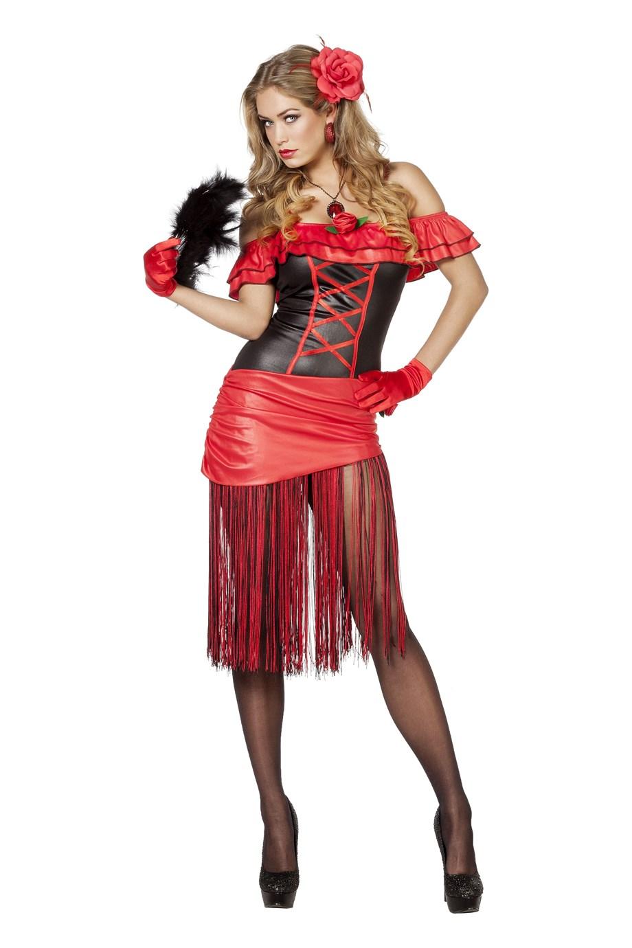 Spaanse jurk met franjes