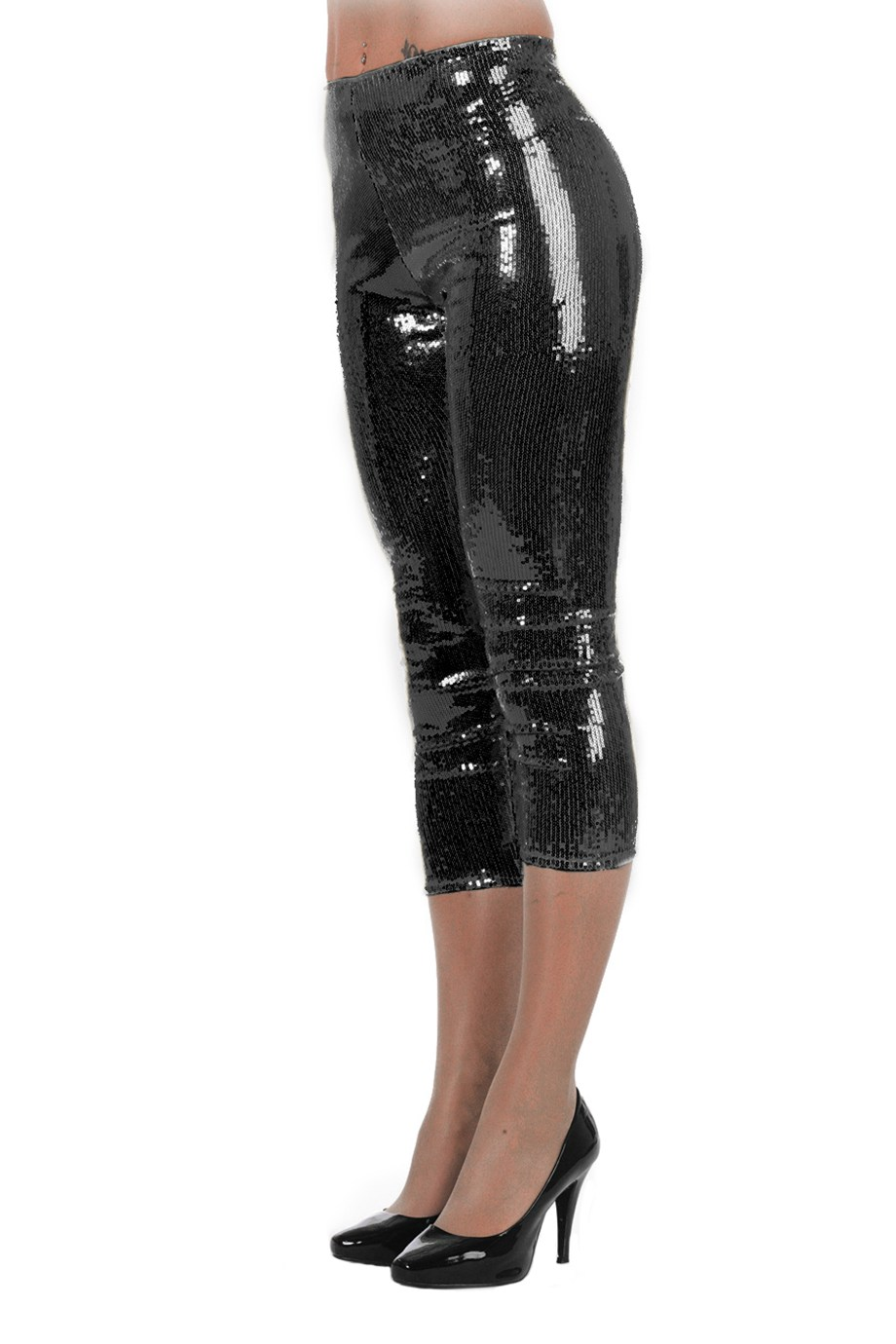 Legging pailletten zwart voor dame