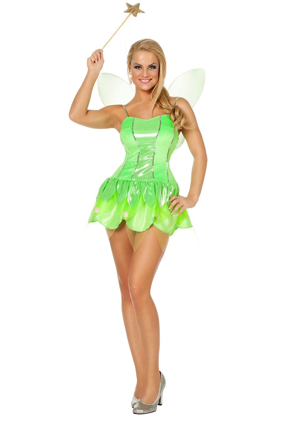 Groene elfen jurk Tinky voor dame