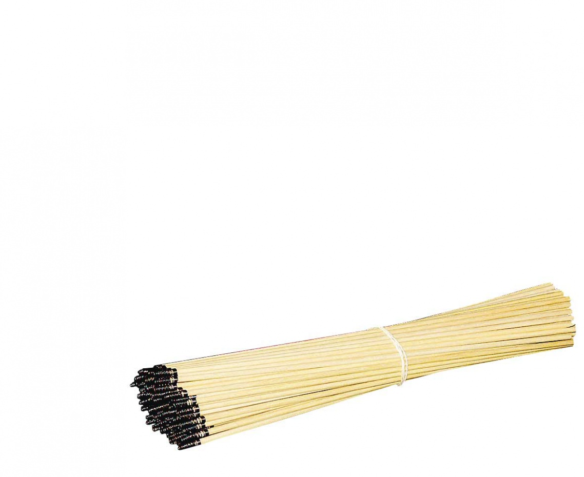 Lampionstokjes hout met veer per stuk (40cm)