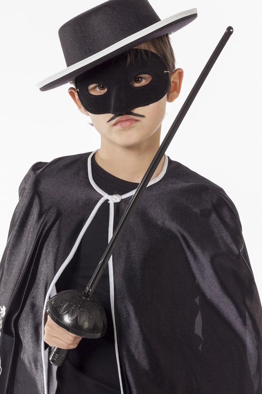 Zwarte ruiter sabel met masker