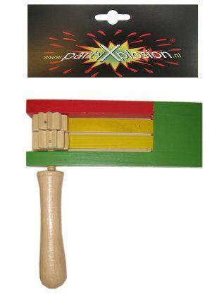 Ratel hout dubbel rood/geel/groen