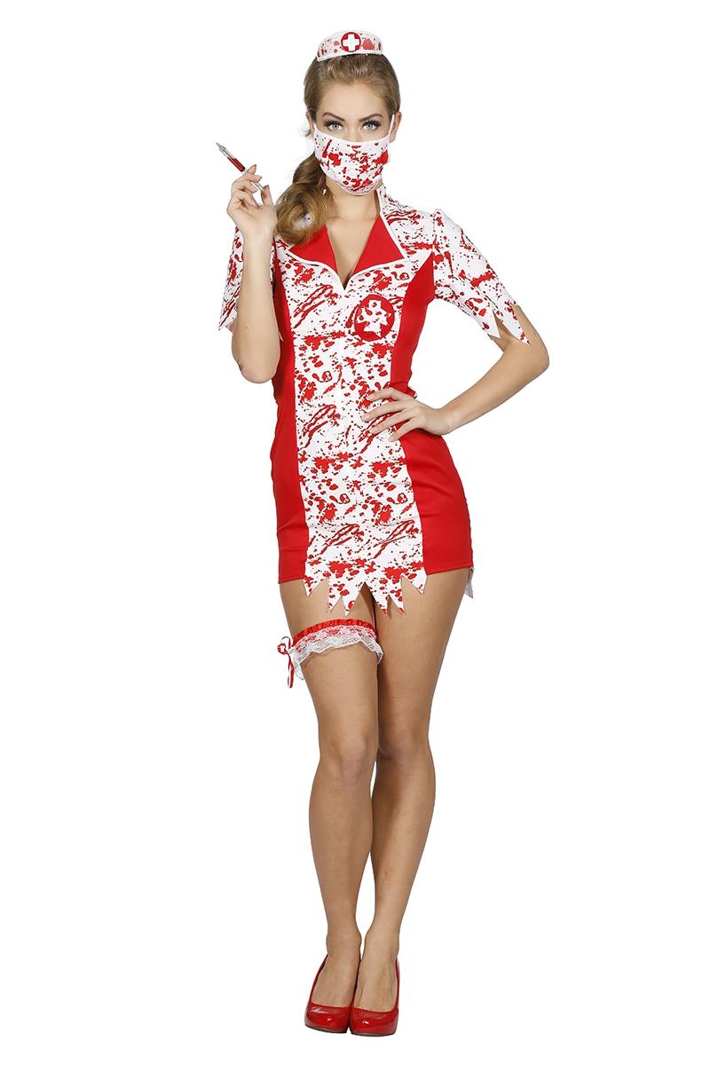 Zombie jurk nurse voor dame