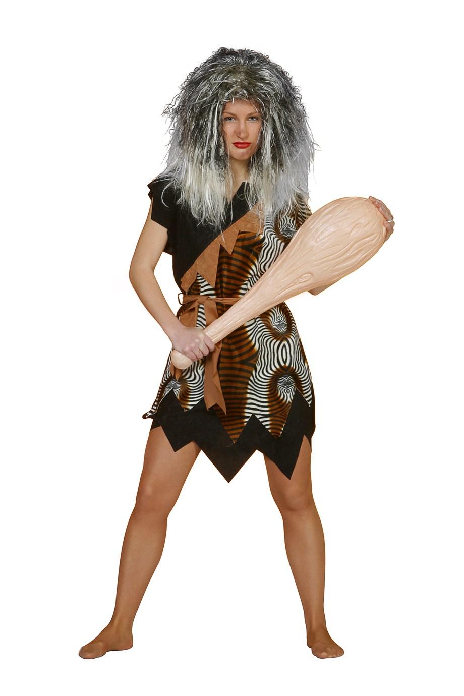 Oermens kostuum velboa afrika voor dame