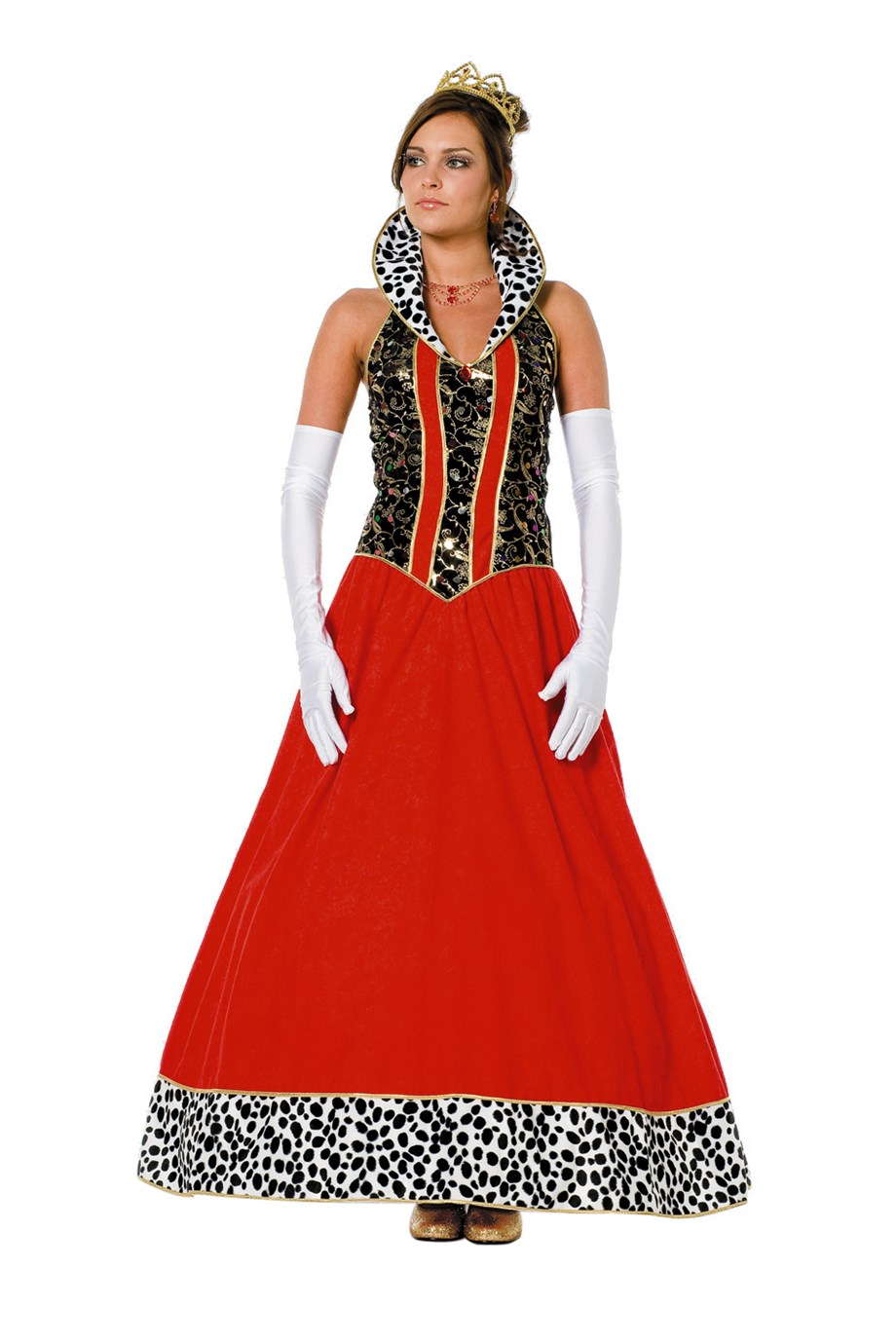 Koningin jurk lang voor dame