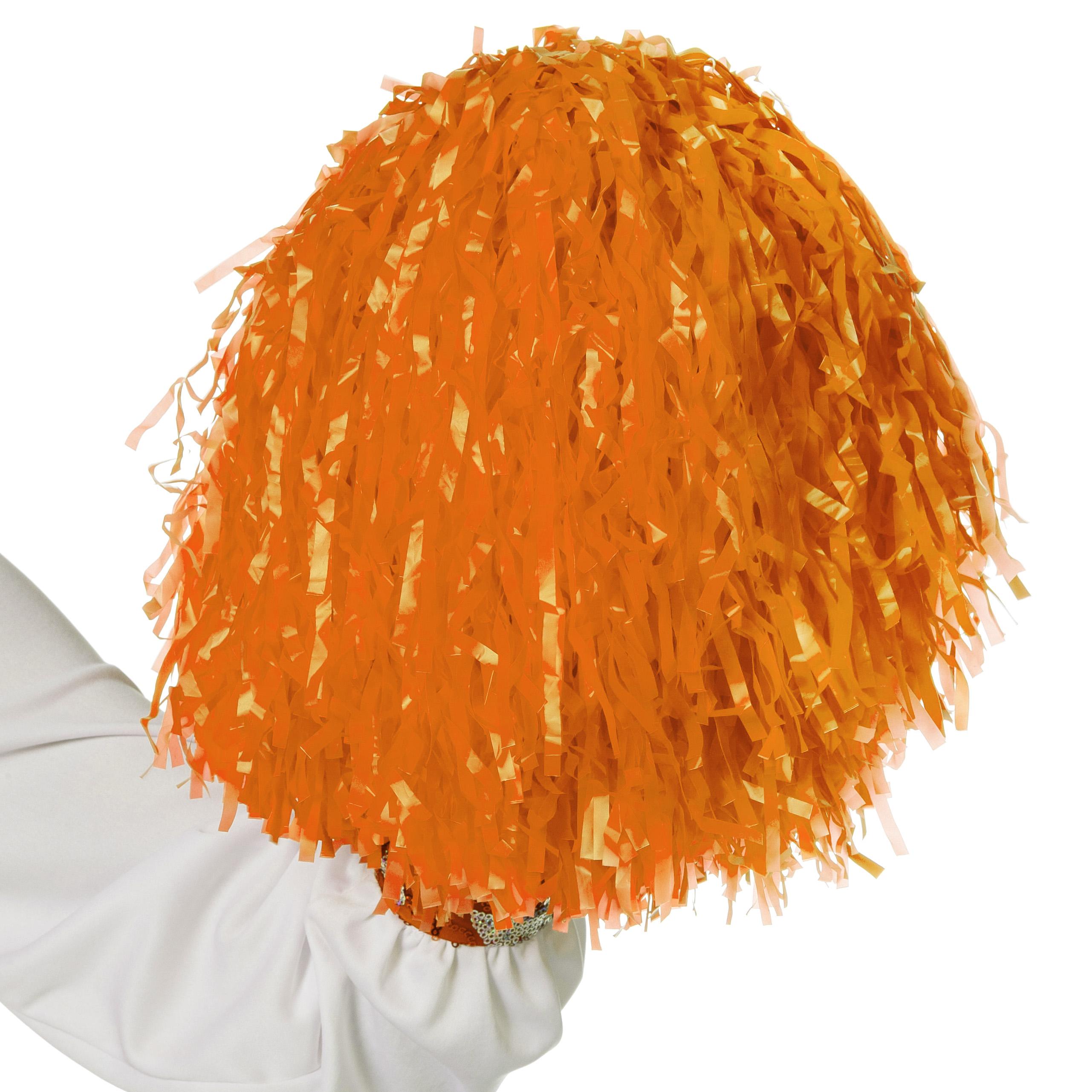 Cheerleader pompon oranje met ringgreep