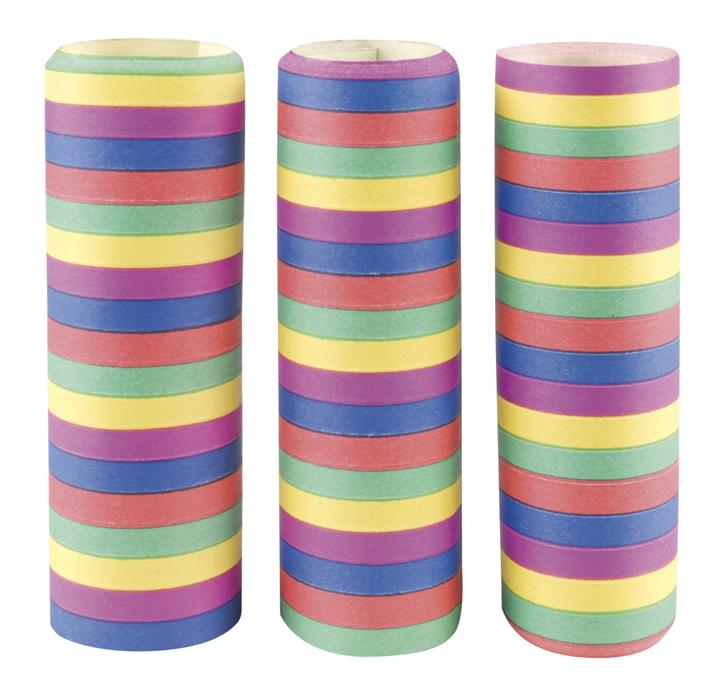 Set 3 Rollen serpentines 5 kleuren (4 m)