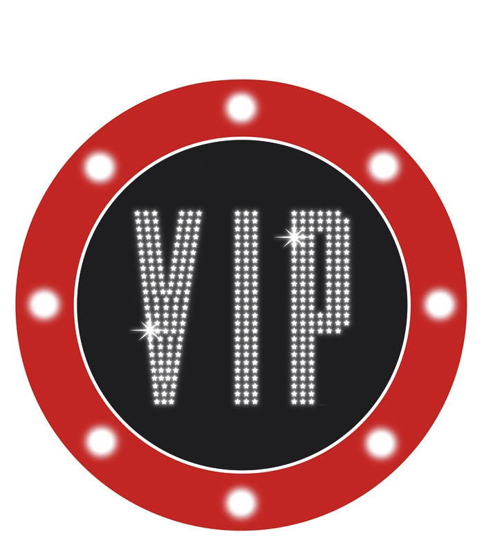 Decoratie bord VIP met een doorsnede van (40cm) karton