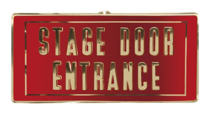 Wanddecoratie stage door entrance VIP (30x60cm) plastic brandvertragend