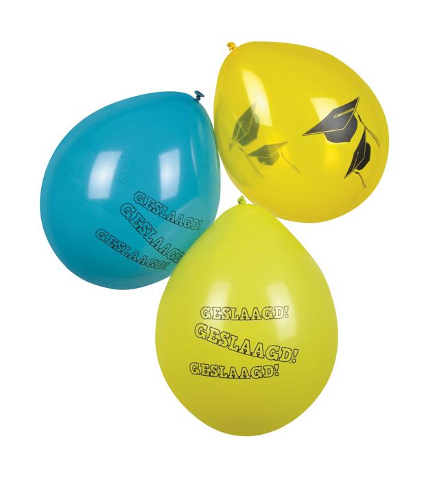 Set 6 Ballonnen Geslaagd (25 cm)