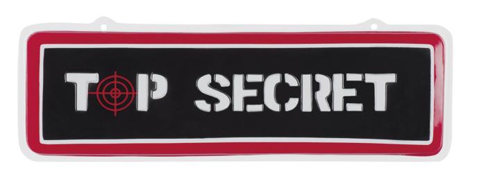 PVC wand decoratie Top secret (18 x 55 cm)