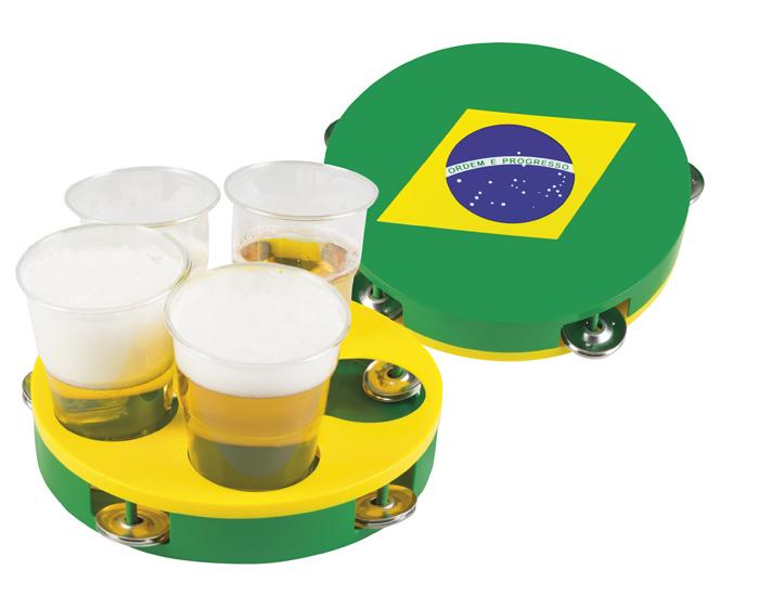 Tamboerijn (en dienblad) Brazilië (20 cm)
