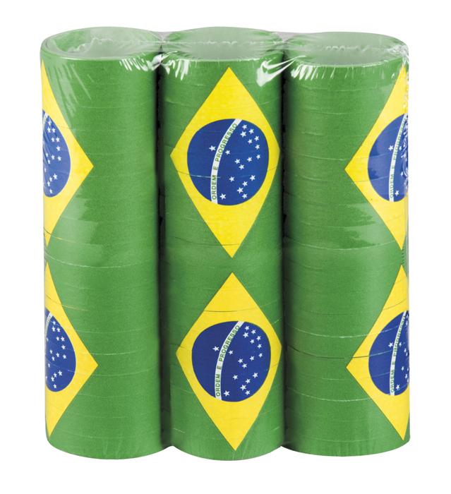 Set 3 Rollen serpentines Brazilië (4 m)