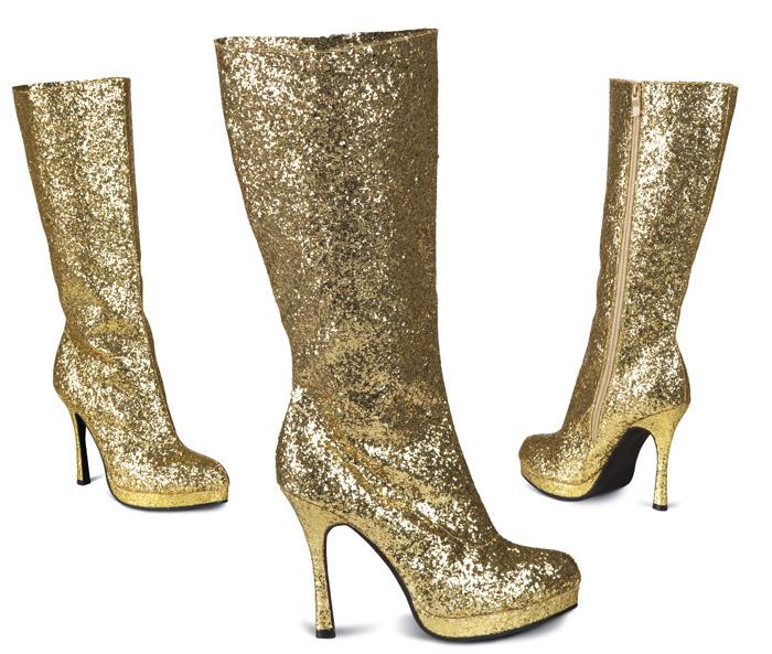 Laarzen Temptation glitter goud