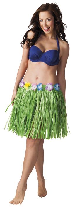 Hawaïrokje groen (45 cm)