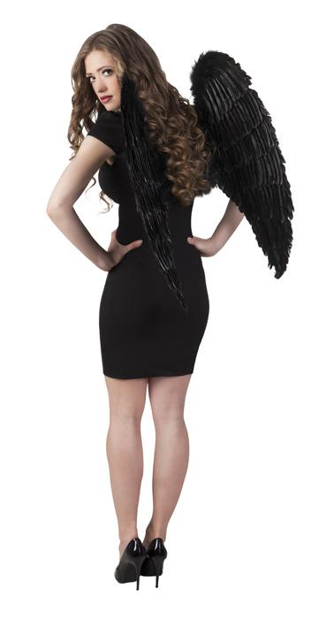 Engelen vleugels zwart (87 x 72 cm)