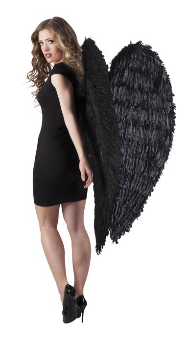 Engelen vleugels zwart (120 x 120 cm)